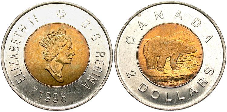Canada 1996 2Dollars